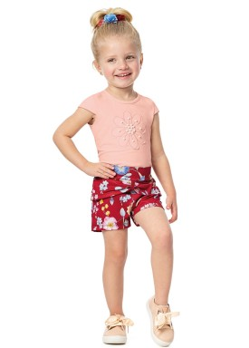 conjunto infantil menina rosa alenice 44232 4