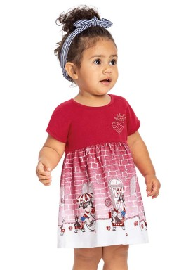 vestido bebe menina vermelho alenice 40903 2