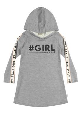 vestido moletom infantil menina girl mescla elian 251294