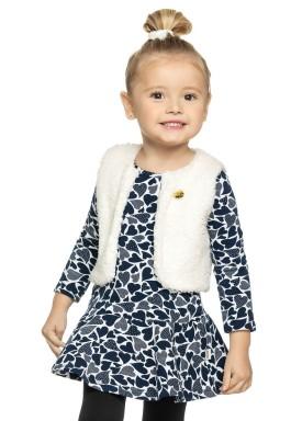 conjunto vestido bolero infantil menina marinho elian 231303 1