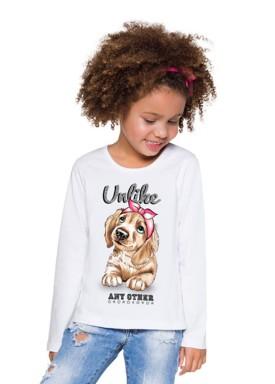blusa manga longa infantil menina unlike branco brandili 53483 2