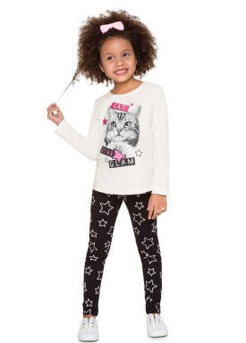 conjunto manga longa infantil menina cat natural brandili 53491 4
