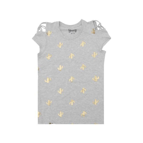 blusa juvenil menina cactos cinza young class 23656 1