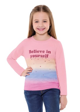 blusa manga longa infantil menina believe rosa fakini 1041 2