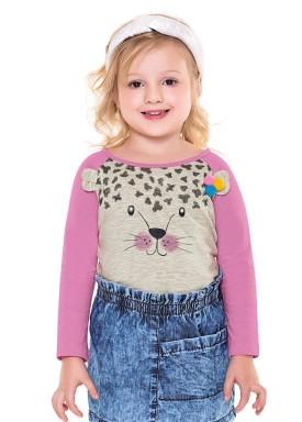 blusa manga longa infantil menina tigre mescla fakini 1030 2