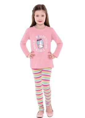 conjunto manga longa infantil menina believe rosa fakini 1045 2