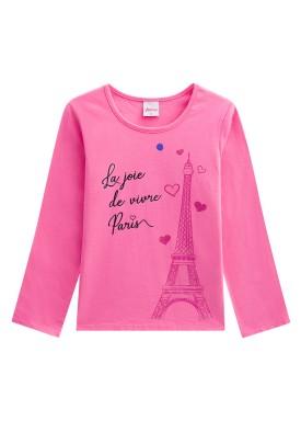 blusa manga longa infantil menina paris rosa alenice 46982 1