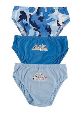 kit cueca 3pc s infantil menino adventure azul evanilda 02050041