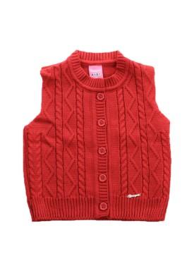 colete trico bebe menina vermelho remiro 1013