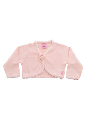 bolero trico bebe menina salmao remiro 1022