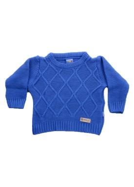 sueter trico bebe menino azul remiro 1036