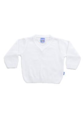 sueter trico bebe menino branco remiro 1006