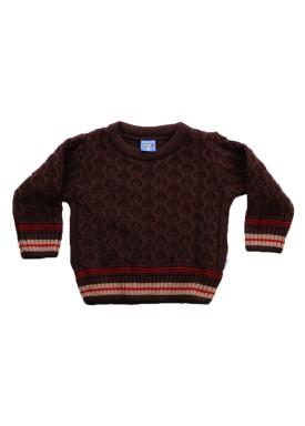 sueter trico bebe menino marrom remiro 1031