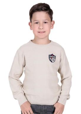 sueter trico infantil menino bege remiro 1235