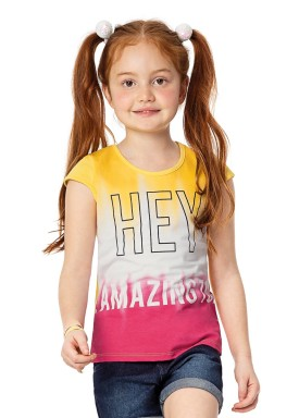 blusa infantil feminina amazing amarelo alenice 46913 2