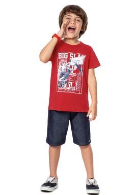 conjunto infantil masculino basketland vermelho alenice 46891 1