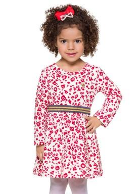 vestido manga longa infantil menina estampado natural brandili 53464 4