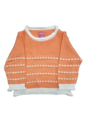 sueter trico bebe feminino salmao remyro 1004