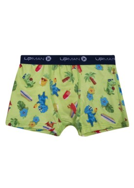 cueca boxer infantil masculina dinos verde upman mini 361r5