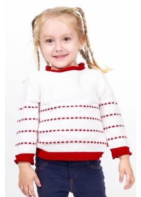 sueter trico bebe feminino branco remyro 1004 2