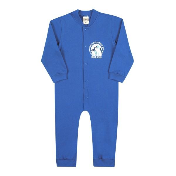macacao longo bebe masculino bear azul kamylus 11766