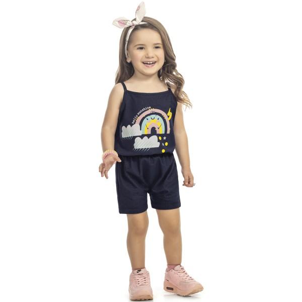 macaquinho infantil feminino sunshine marinho kamylus 9984 3