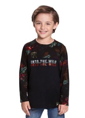 camiseta manga longa infantil masculina wild preto alakazoo 67416 1