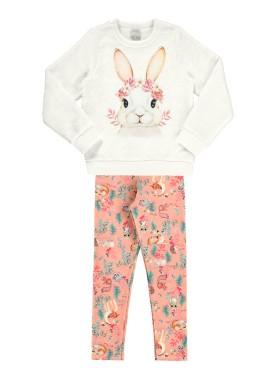 conjunto manga longa infantil feminino coelho offwhite alakazoo 67555 1