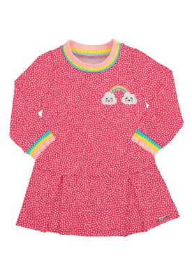 vestido molecotton bebe feminino arco iris rosa alakazoo 67450