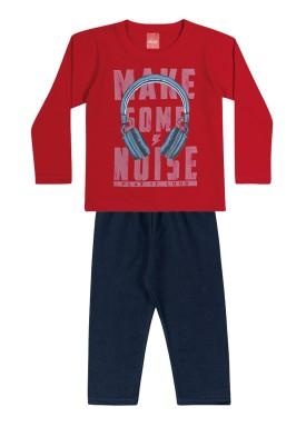 conjunto manga longa infantil menino noise vermelho elian 22985 1