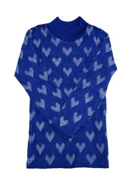 blusa la infantil feminina coracoes azul remyro 0105