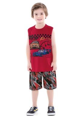 conjunto infantil masculino racing vermelho forfun 2176 1