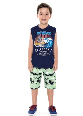 conjunto infantil masculino waves marinho forfun 2168 1