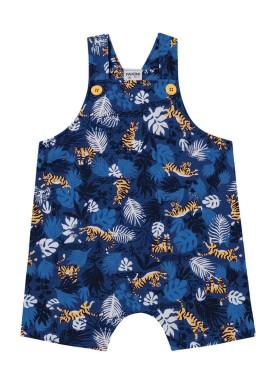 macacao bebe masculino folhas azul fakini 2205