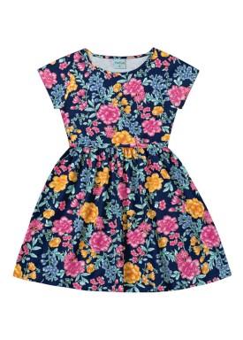vestido infantil feminino floral marinho forfun 2126