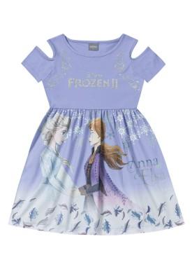 vestido infantil feminino frozen lilas fakini 2438