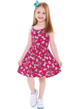 vestido infantil feminino garden pink forfun 2127 4