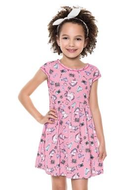 vestido infantil feminino unico rnio rosa forfun 2121 1