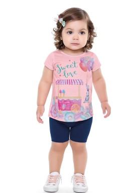 conjunto bebe feminino sweet rosa forfun 2105 1