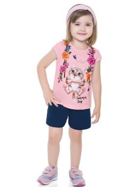 conjunto infantil feminino gatinho rosa forfun 2117 1