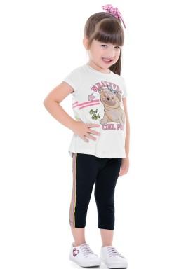 conjunto infantil feminino pug branco fakini 2038 1
