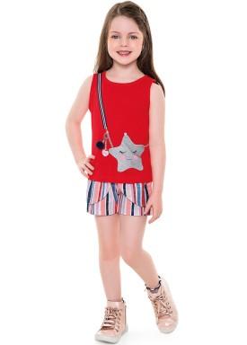 conjunto infantil feminino star vermelho fakini 2051 1
