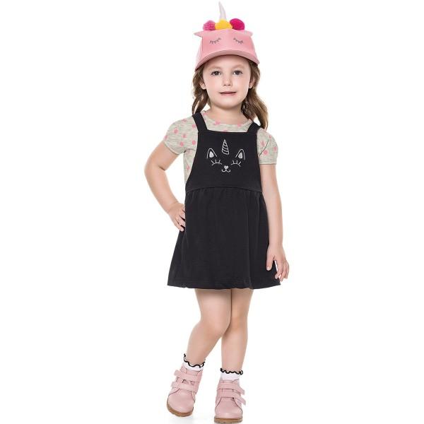 conjunto infantil feminino unicornio mescla fakini 2035 1