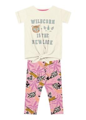 conjunto infantil feminino wildcorn marfim fakini 2048