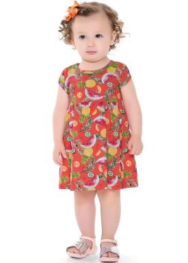 vestido bebe feminino frutas vermelho forfun 2104 4