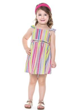 vestido infantil feminino listras verde fakini 2022 3