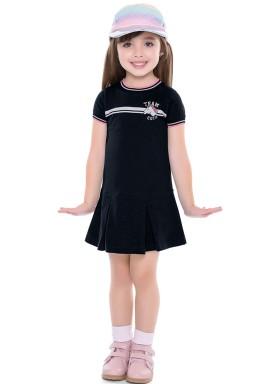 vestido infantil feminino unicornio preto fakini 2036 4