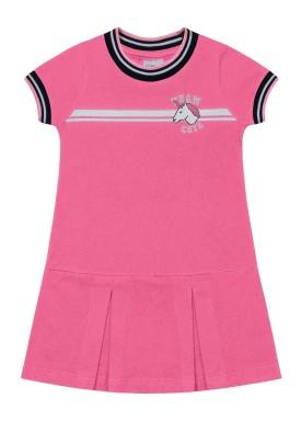 vestido infantil feminino unicornio rosa fakini 2036 1