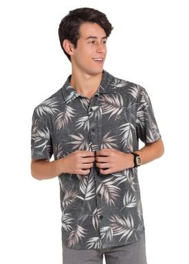 camisa juvenil masculina estampada preto fico 48398 1