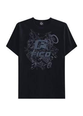 camiseta juvenil masculina adventure preto fico 48411